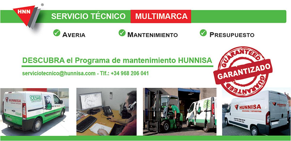Hunnisa reparaci n fregadoras carretillas elevadoras for Servicio tecnico murcia